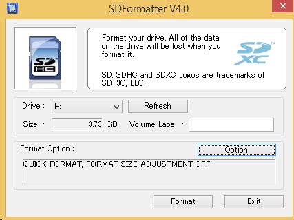 SD Formatter v4